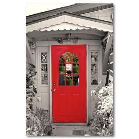 Αφίσα (κόκκινος, πόρτα, μαύρο, λευκό, άσπρο)